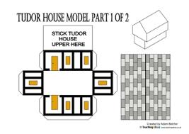 printable model house template tudor house nets teaching ideas
