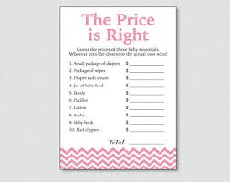 price is right baby shower yellow baby shower price is right printable instant