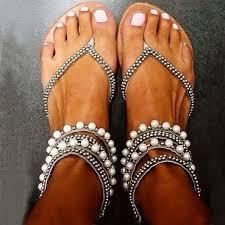Rhinestone Flat Sandals Wedding Beading Rhinestone Thong Women U0027s Flat Flops Sandals Sandals