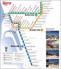 Trolley Map San Diego by San Diego Subway Map My Blog