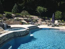 pool raised deck firepit u2013 this pool here in doylestown pa