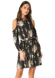 alice olivia alice olivia karina cold shoulder shirt dress