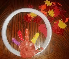 thanksgiving handprint turkey thanksgiving wreath kids craft
