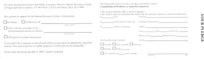 pledge cards template home