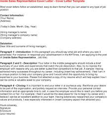 cover letter for inside sales position mazury me