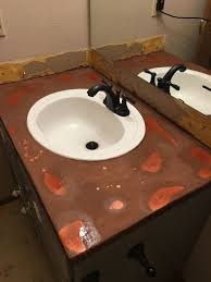 ideas for bathroom countertops copper countertops 20 what hometalk