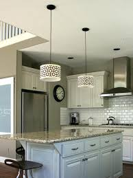 kitchen pendant lights island customize kitchen lighting with fabric covered drum shades hgtv