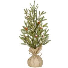 shop for the christmas tree with burlap pinecones u0026 snow by