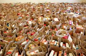 christmas food baskets salvation army volunteers to package 10 000 christmas food boxes