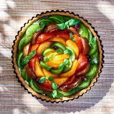 le figaro cuisine recette tarte aux tomates multicolores cuisine madame figaro