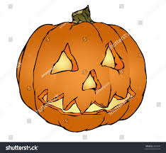 halloween pumpkin cartoons nice scary halloween pumpkin vector illustration stock vector
