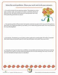 word problems flower power worksheet education com