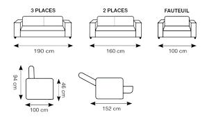 taille canapé 3 places dimensions canape 2 places lit dimension canap ordinary 3 8