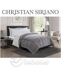 Faux Fur Duvet Cover Queen Spectacular Deal On Christian Siriano Luxury Reversible Faux Fur