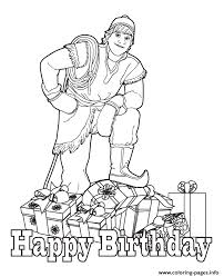 kristoff wishing you happy birthday colouring page coloring pages