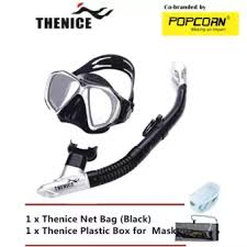 thenice diving snorkeling set mask and breathing with free