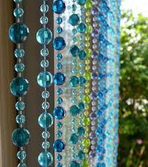 Bead Curtains For Doors 6 Beaded Curtain Blue Green Mini Balls That Bohemian