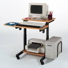 buddy products charcoal and silver desk with shelves 9116 36 the