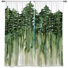 unique window curtains julia di sano forest trees green
