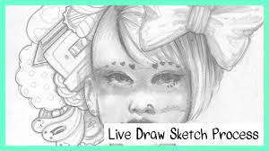 live drawing pencil sketches youtube
