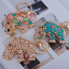 metal elephant ring holder images Newest metal keychain thai mascot elephant key ring holder lucky jpg