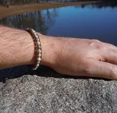fossil bracelet men images Men 39 s beaded leather bracelets fossil coral onsra designer jpg