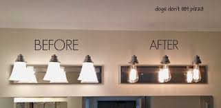 Replacing Bathroom Light Fixture 8 Bulb Vanity Light Fixture Contemporary How To Update Bathroom