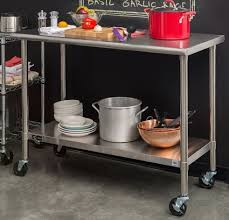 prep table kitchen stainless steel prep table kitchen work food cart island rolling