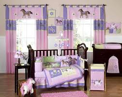 horse bedding for girls pony crib bedding set 9pc baby nursery collection pink u0026 purple