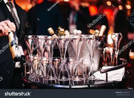 champagne bottle wine chrystal glasses set stock photo 492304951