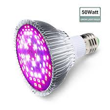amazon com led grow light bulb 50w glime e27 grow plant light