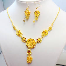 fine jewelry necklace store images 24k golden 1 1 quality hongkong gold shop handmade delicate peach jpg