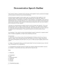 demonstrative speech outline template search school