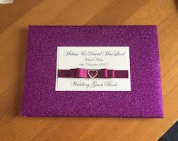 purple wedding guest book purple guest book etsy