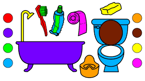 tool coloring pages learn colors with bathroom tools coloring pages for kids