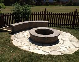 Custom Fire Pit by Custom Fire Pit With Limestone Base And Small Seating Wall