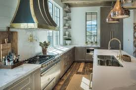 Grey Wash Kitchen Cabinets Gray Wash Kitchen Cabinets And Drawers With Gold Trim