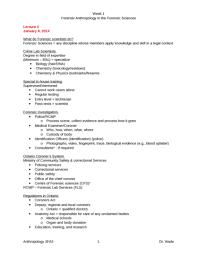 anthrop 3fa3 lecture notes 3 crime scene investigation docx