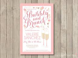 chagne brunch invitations bridal shower brunch invitation shower invite pink digital
