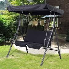 bench garden swing bench canopy backyard swing garden seat no