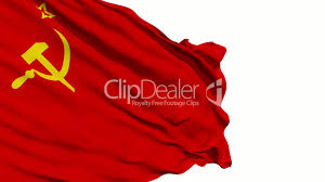 Stalin Flag Realistic 3d Seamless Looping Soviet Union Flag Waving Royalty