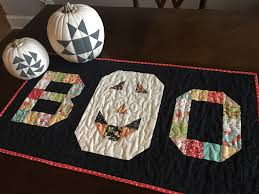 halloween tablecloths black and u2026boo table runner moda bake shop
