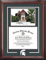 of michigan diploma frame michigan state spartans alumni chapel lithograph