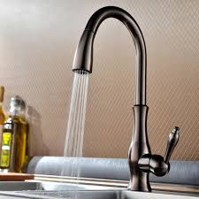 Kitchen Faucet Low Pressure Tracier Gooseneck Single Hole Kitchen Faucet With Pull Out Spray