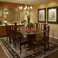 glamorous asian open dining room with geometric wall also white