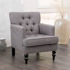 shop best selling home decor malone charcoal club chair at lowes com