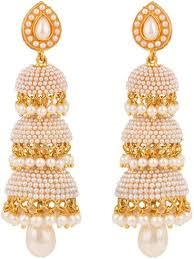 new fashion gold earrings buy royal bling gold plated jhumki earrings for women online