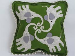 aesthetic oiseau felt applique pillows on etsy