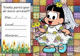 Excepcional convite festa junina turma da monica imprimir1  #VH44