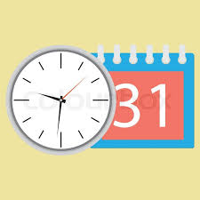 time design planner time planning clock with calendar date plane and strategy